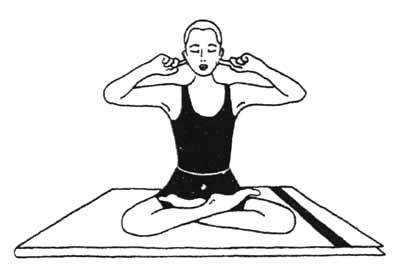 Ilustrācija Bhramari pranajamai no yoga-portal.narod.ru
