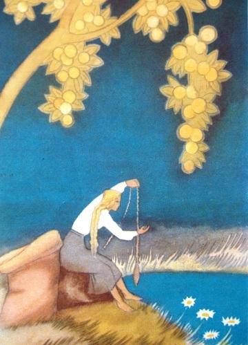 Sūniņa ilustrācija pasakai - Zelta ābele un sudraba avots