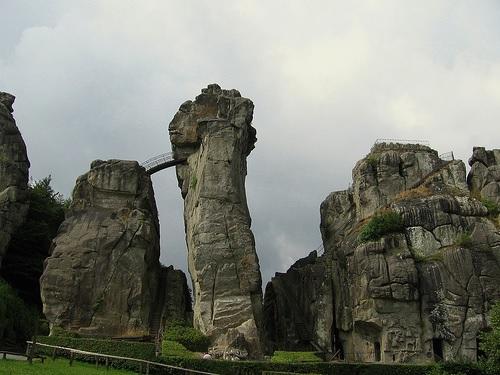 Skats uz Eksternšteinas galvenajām klintīm